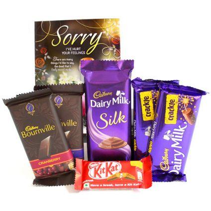 Chocolates With Greeting Card