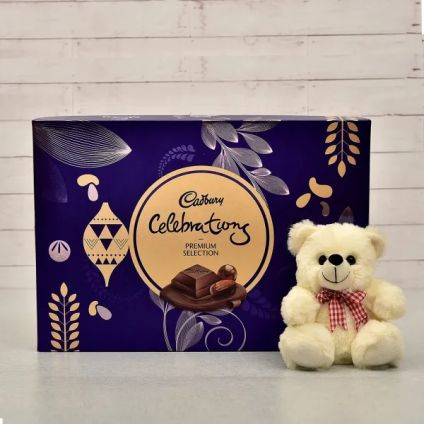 Cadbury Celebration with 6 inch teddy bear