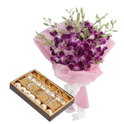 Orchid And Mixed Sweets
