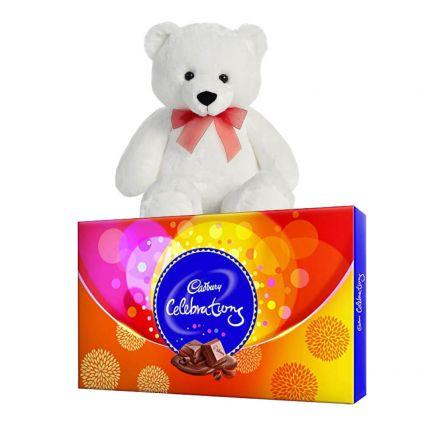 Teddy Bear 6 inch & Cadbury Celebration Pack