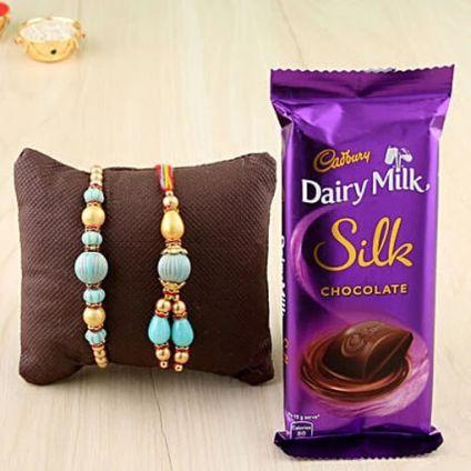 Silk with Rakhi Combo