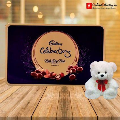 Cadbury Celebration Rich dry fruits with 6 inch teddy bear
