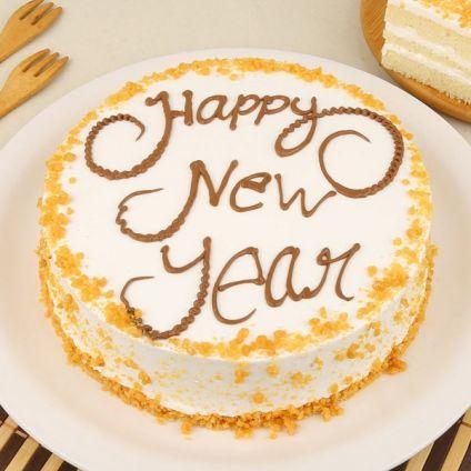 Happy New Year Butterscotch Cake