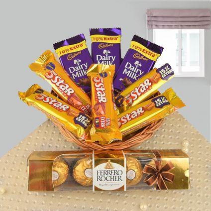 Basket of Cadburry chocolates