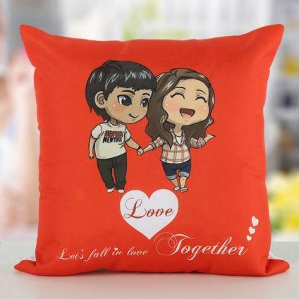 Cute Couple Cushion