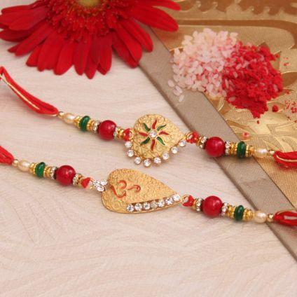 2 Glittering Rakhis