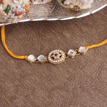Unique Golden Rakhi