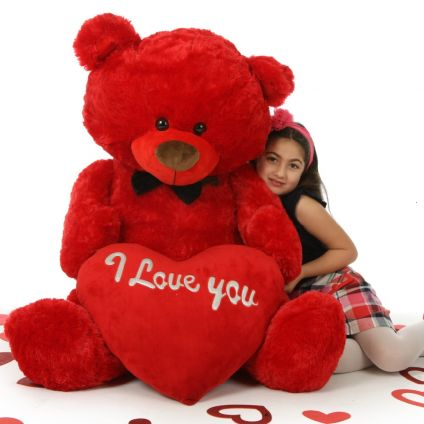 RED HOT VALENTINE?S DAY GIANT TEDDY BEAR