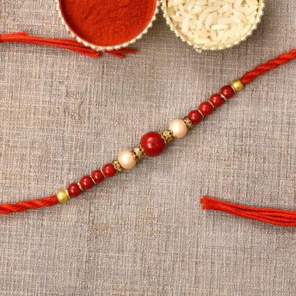 Beautiful Red Stone Rakhi