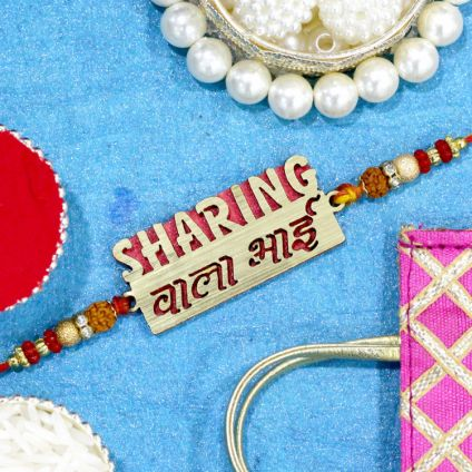 Sharing Wala Bhai Wooden Rakhi