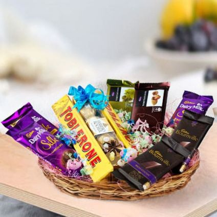 A Basket of Mixed chocolates