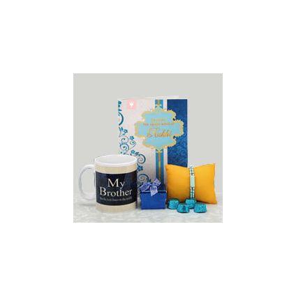 Coffee Mug, Greeting Card and Chocolates