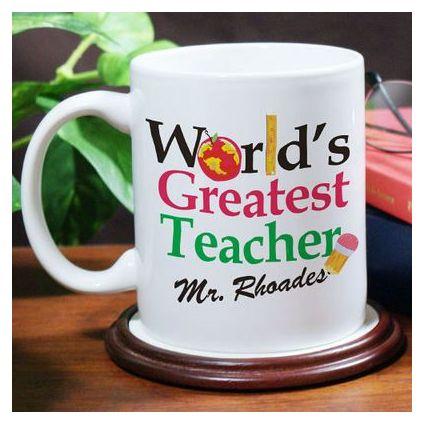 Find greatest teachers Personalized coffee mugs,