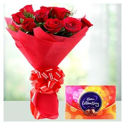 Red Roses With celebration