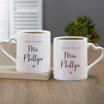 heart shape valentines mug for couple