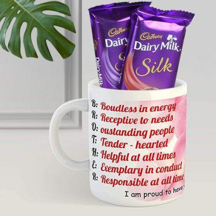mug with dairy milk silk