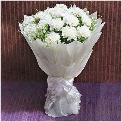 White Carnation Bunch