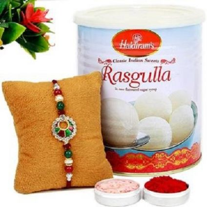 Rasgulla with Rakhi