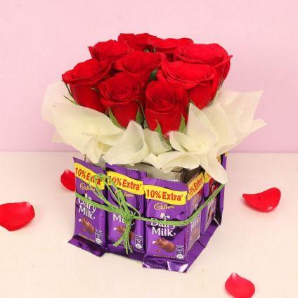 Rose Chocolate Bouqt
