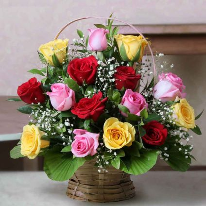 Full mix Roses of Basket