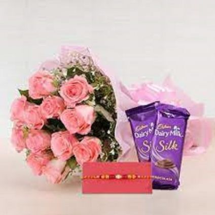 Pink roses & Silk