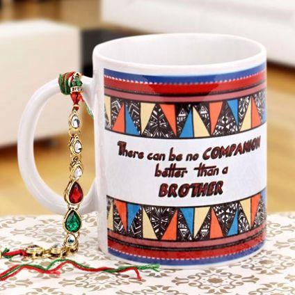 Rakhi with printed mug