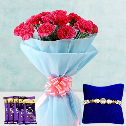 Pink Carnation N Rakhi