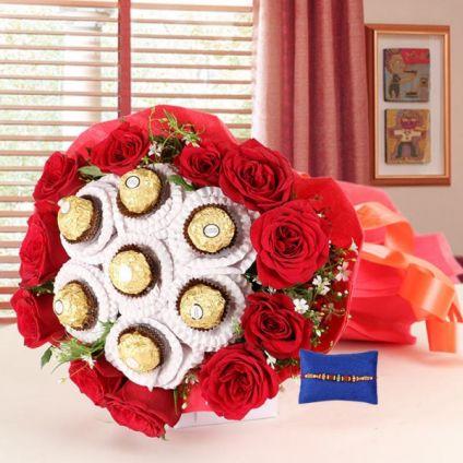 Rocher Bouquet with Rakhi