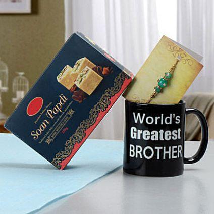 Soan papdi and a coffee mug