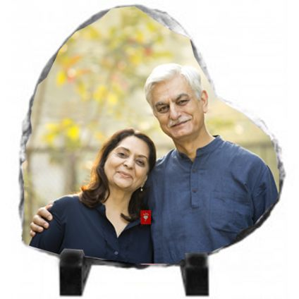 Heart Shaped personalized Photo Stone