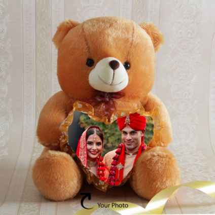 Photo Personalized Brown Teddy Bear