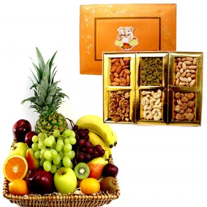 Mixed Dry Fruits With Mixed Fruits