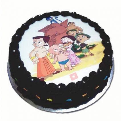 Chota Bheem Chocolates Cake