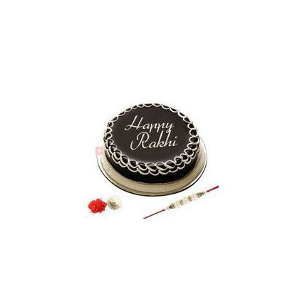 Rakhi with 1/2 kg Chocolate cake