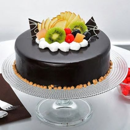 Fruits Chocolate Cake
