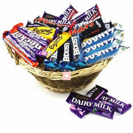 A Basket of 45 Mixed chocolates