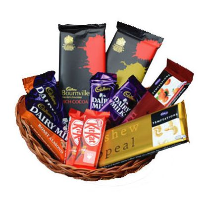 A Basket of 10 Mixed chocolates