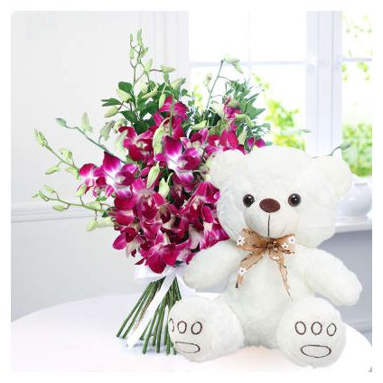 Orchids and with Teddy