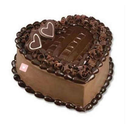 Heart Shape Eggless Chocolate cake