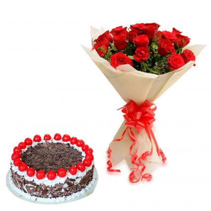 Rose With Black forest