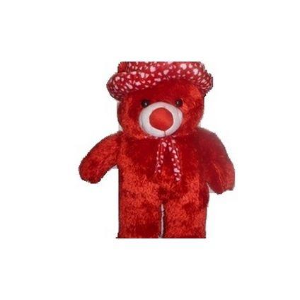 Red Big Teddy bear in Cap