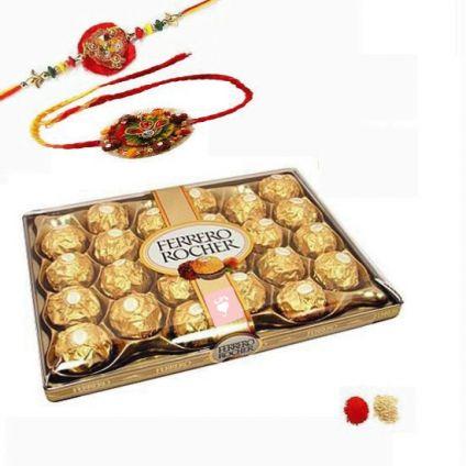 Designer Rakhi With Ferrero Rocher