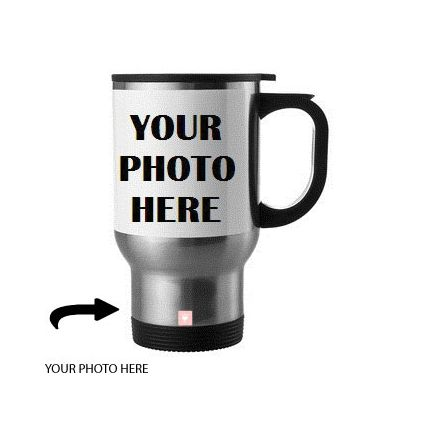 Customized Steel Mug With Photo