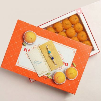 Sweets Ladoo With Rakhi
