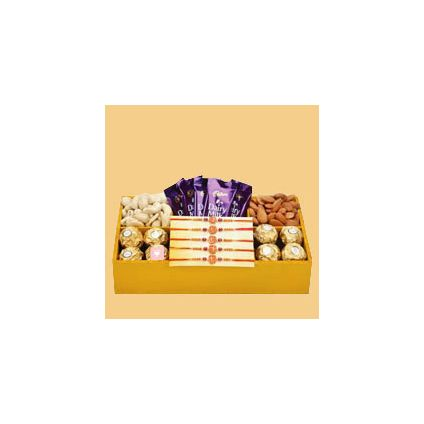 Rakhi With Tasty Combo Gifts