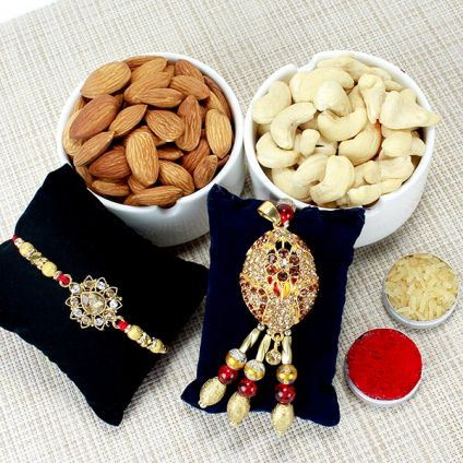 Cahsew, Almond with Bhaiya Bhabhi Rakhi