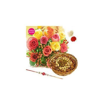 Mixed Roses N Rakhi