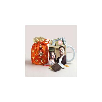 Personalized Mug N Rakhi Treats