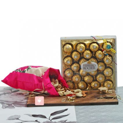 Chocolates Rakhi dry fruits