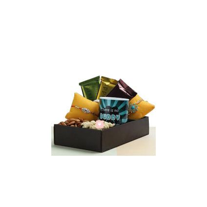 Chocolates Rakhi dry fruits personalized mug